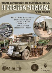 An exhibition of World War II material in Arguineguin