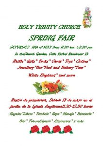 Spring Fair - Holy Trinity Church Las Palmas