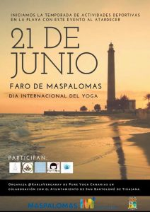 Free Yoga session at Faro de Maspalomas