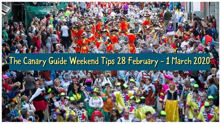 The Canary Guide Weekend Tips 28 February – 1 March 2020