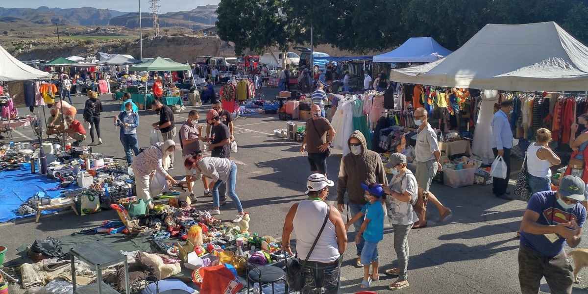 The second hand market of Maspalomas suspended
